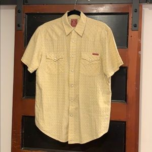Men's Lucky Brand short-sleeved snap front shirt M